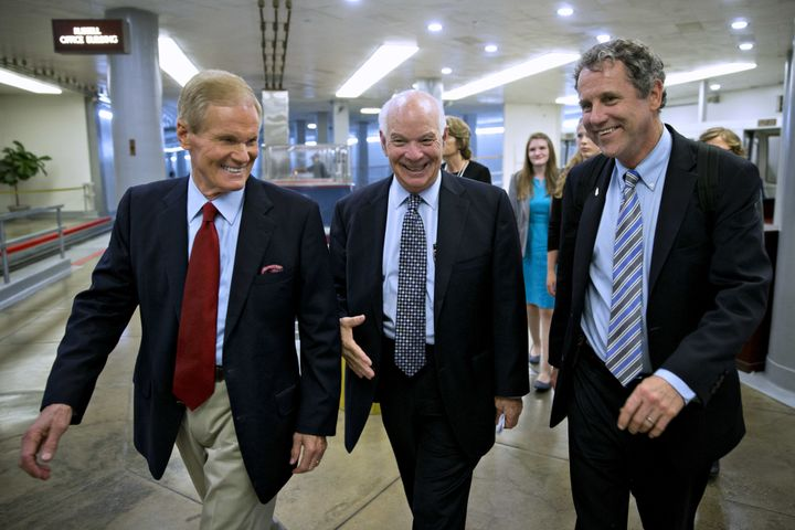 Sens. Sherrod Brown (right) and Bill Nelson (left) could both face strong challenges from their respective state governo