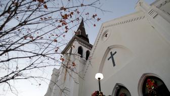 Christmas decorations and a small tree frame the Mother Emanuel AME Church after the federal trial of Dylann Roof who was found guilty of 33 counts including hate crimes in Charleston, South Carolina December 15, 2016. REUTERS/Randall Hill