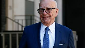 Media mogul Rupert Murdoch leaves his home in London, Britain March 4, 2016. Murdoch wed former supermodel Jerry Hall in a low-key ceremony in central London on Friday, the fourth marriage for the media mogul. REUTERS/Stefan Wermuth