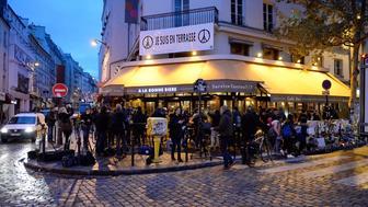 PARIS, FRANCE - DECEMBER 04:  A general view of 'La Bonne Biere' as it re-opened today after the Paris terrorist attacks, on December 4, 2015 in Paris, France. Five people lost their lives at 'La Bonne Biere' during the November 13, 2015 terrorist attacks in Paris.  (Photo by Aurelien Meunier/Getty Images)