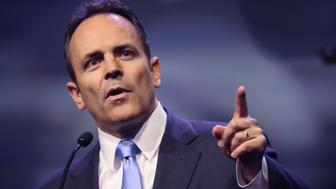 LOUISVILLE, KY - MAY 20:  Gov. Matt Bevin (R-Ky.) speaks at the National Rifle Association's NRA-ILA Leadership Forum during the NRA Convention at the Kentucky Exposition Center on May 20, 2016 in Louisville, Kentucky. The convention, which opened today, runs until May 22.  (Photo by Scott Olson/Getty Images)