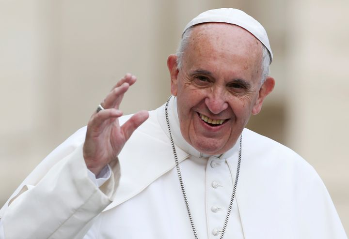 A plane carrying Pope Francis was hit with a laser beam as it prepared to land in Mexico City on Friday, airline officials sa