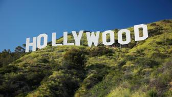 The Hollywood Sign above the Hollywood hills