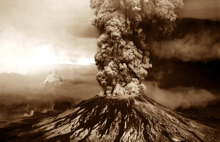 The 1980 eruption, seen from another location, became the most destructive volcanic event in the United States' history.