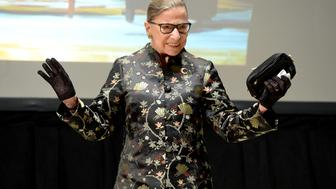 NEW YORK, NY - SEPTEMBER 21:  Supreme Court Justice Ruth Bader Ginsburg presents onstage at An Historic Evening with Supreme Court Justice Ruth Bader Ginsburg at the Temple Emanu-El Skirball Center on September 21, 2016 in New York City.  (Photo by Michael Kovac/Getty Images)