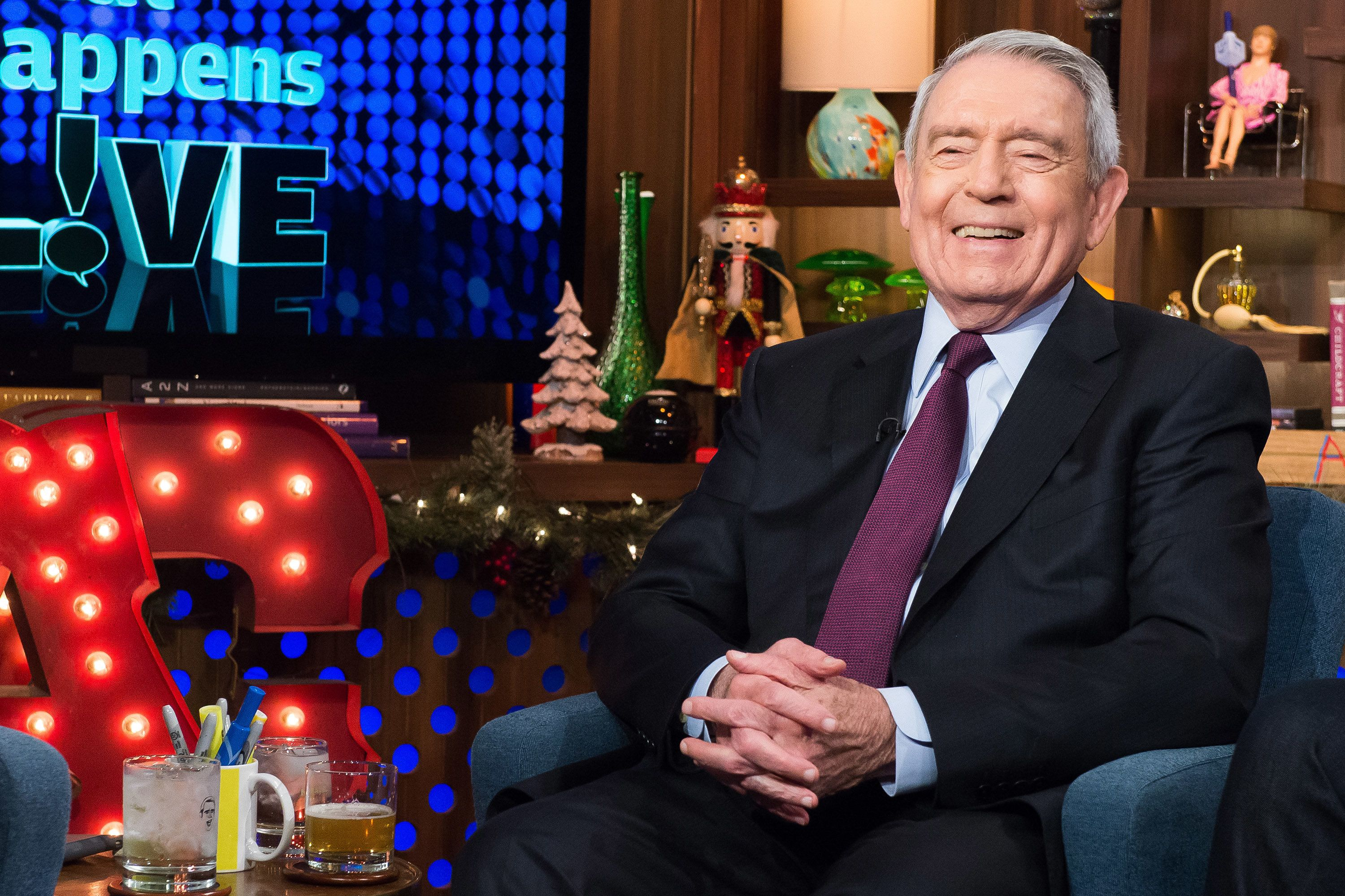 WATCH WHAT HAPPENS LIVE -- Pictured: Dan Rather -- (Photo by: Charles Sykes/Bravo/NBCU Photo Bank via Getty Images)
