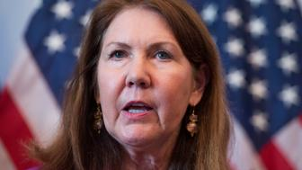 UNITED STATES - MAY 22: Rep. Ann Kirkpatrick, D-Ariz., speaks at a news conference in Cannon Building to announce a legislative package that will help the Veterans Affairs Department eliminate the backlog of veteran's claims by 2015.(Photo By Tom Williams/CQ Roll Call)