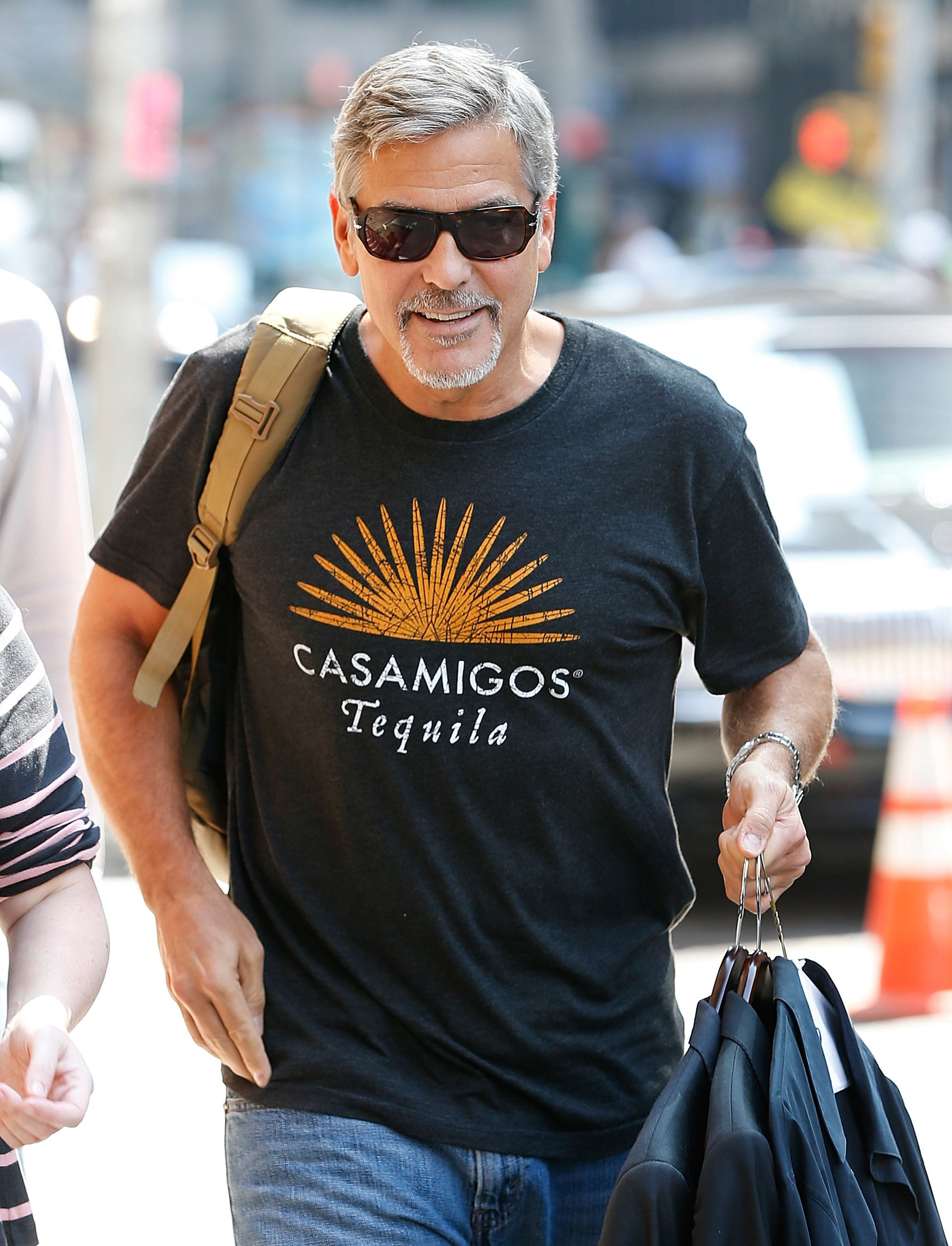 NEW YORK, NY - SEPTEMBER 08:  George Clooney attends the first taping of 'The Late Show With Stephen Colbert' on September 8, 2015 in New York City.  (Photo by John Lamparski/Getty Images)