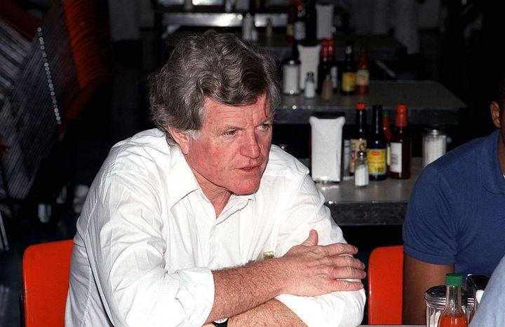 """Senator Kennedy <a rel=""""nofollow"""" href=""""https://en.wikipedia.org/wiki/Ted_Kennedy#/media/File:EdwardKennedyUSSTheodoreRooseve"""