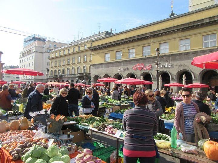 <p>Dolac Market in Zagreb</p>