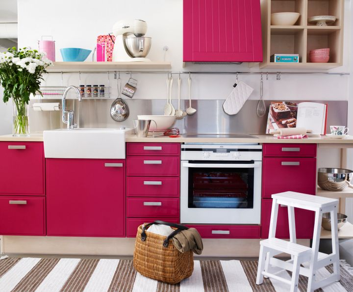 A red kitchen Sweden. Per Magnus Persson via Getty Images