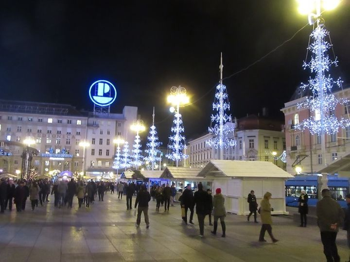<p> Ban Jelačić Square in Zagreb</p>