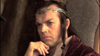 UNITED STATES - DECEMBER 01:  'The Lord of the Rings: The fellowship of the ring' In United States In December, 2001-Hugo Weaving as Elrond, father of Arwen.  (Photo by 7831/Gamma-Rapho via Getty Images)