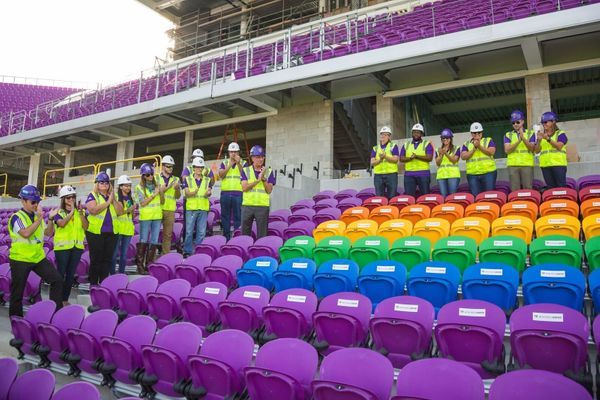 The stadium was only recently completed and is set to host its first match in March.