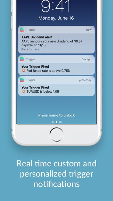 Trigger app notifications on an iPhone.