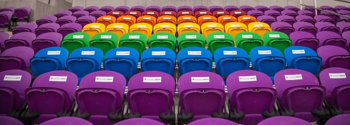 Orlando, Florida's soccer stadium has unveiled 49 rainbow-colored seats to honor the victims of last year's shooting at Pulse
