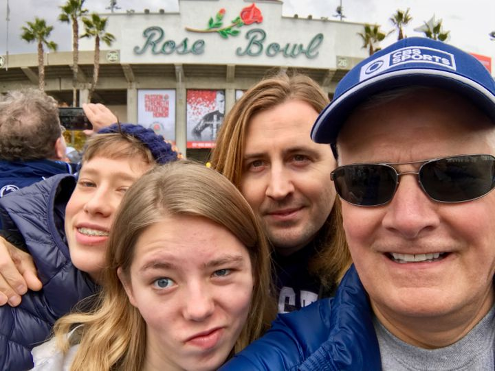 Rich Valenza, RaiseAChild Founder & CEO (right) with partner Jared Gee, and family.