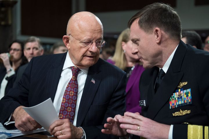 Director of National Intelligence James Clapper and Director of the National Security Agency Adm. Michael Rogers testifi