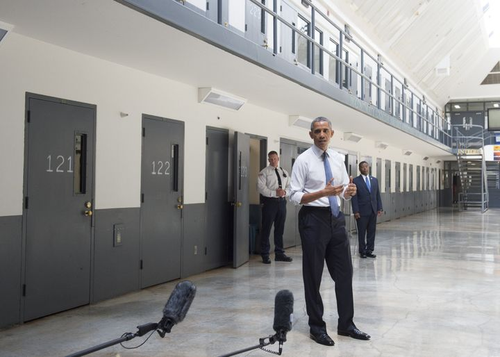 Among the symbolic steps President Obama took while in office was his visit to a federal prison in 2015.