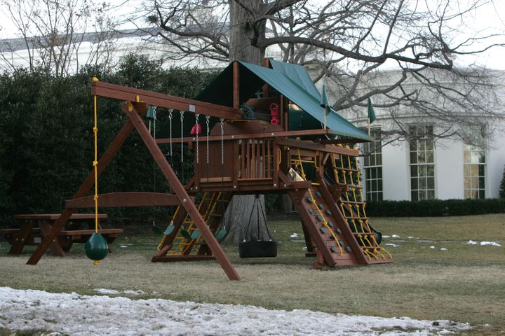 The swing set, in its full glory.