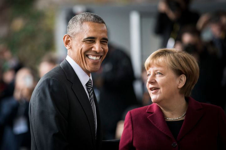 Obama first spoke in Berlin during his presidential run in 2008.