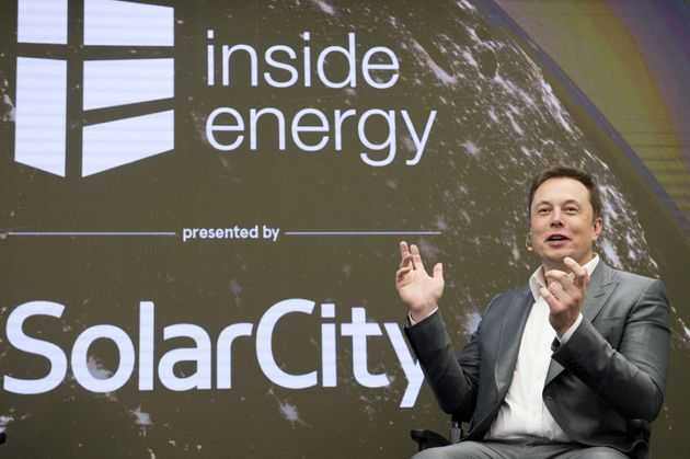 Elon Musk, Chairman of SolarCity and CEO of Tesla Motors, speaks at SolarCity's Inside Energy Summit...