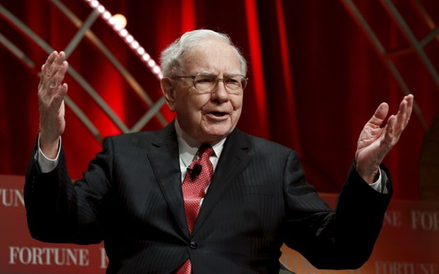 Warren Buffett, chairman and CEO of Berkshire Hathaway, speaks at the Fortune's Most Powerful Women's...