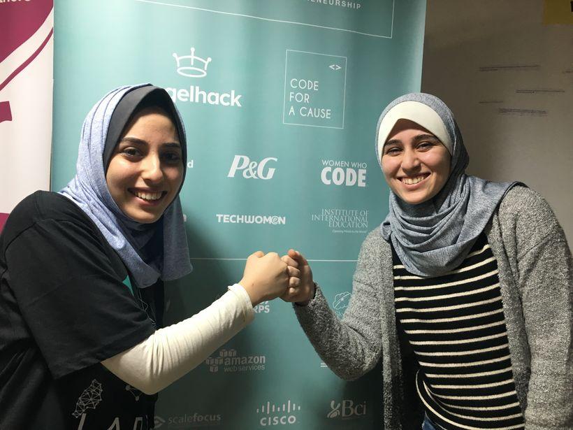 Ghadeer and a fellow entrepreneur