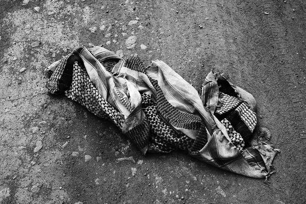 A man'skeffiyeh scarf.