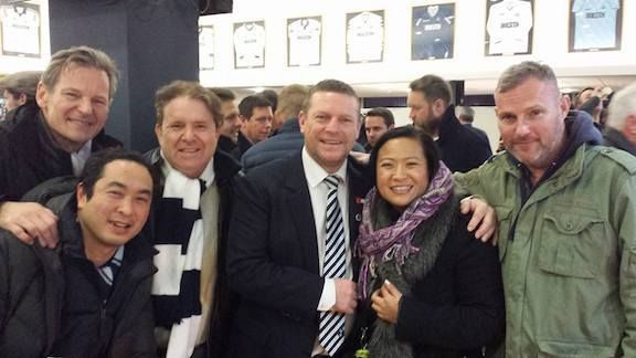 <strong><em>LA Spurs (Bruce, Mark, Bazza, Spurs Legend Micky Hazard, Eliana, and Jamison) in the Inner circle</em></strong>