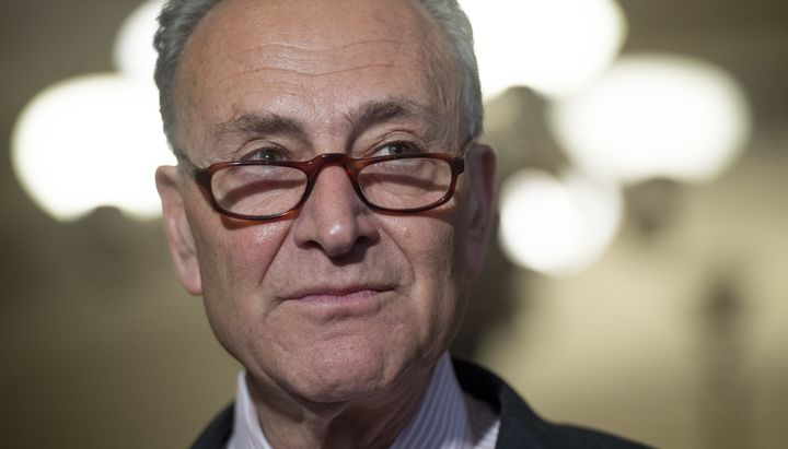 "Senate Minority Leader Chuck Schumer (D-N.Y.) says of court nominees, ""They have to follow the law. For instance, Roe v"