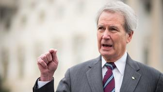 UNITED STATES - DECEMBER 9: Rep. Walter Jones, R-N.C., and Rep. Thomas Massie, R-Ky., (not pictured) hold a news conference on Wednesday, Dec. 9, 2015, outside of the Capitol to de-authorize use of Capitol office space and staff provided to the recent ex-Speaker of the House. (Photo By Bill Clark/CQ Roll Call)