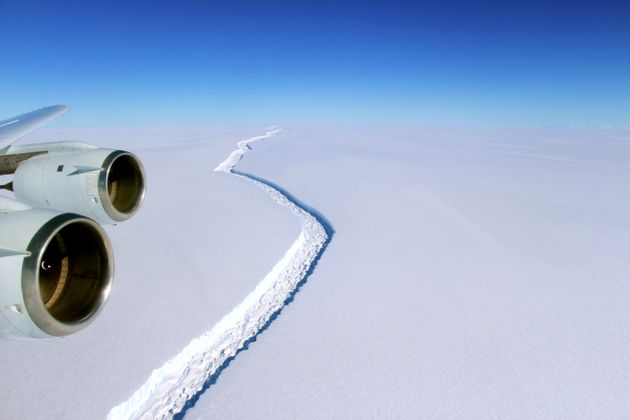 An image released by NASA in November of the rift in the Larsen C ice