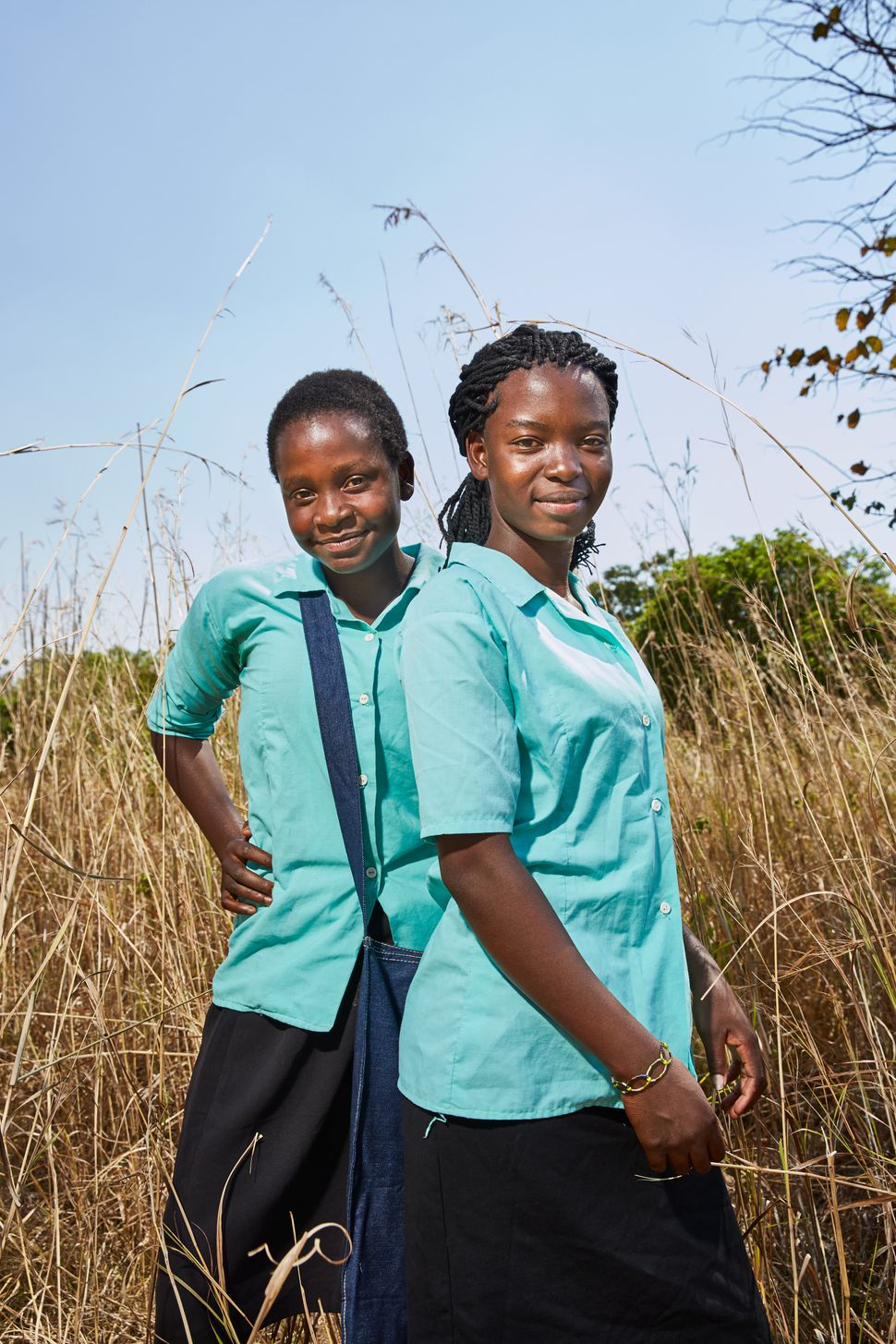 At Green Malata, schoolgirls like Tamanda (right,16) and Blessings (left, 15), who cannot afford to buy The School Girl Pack