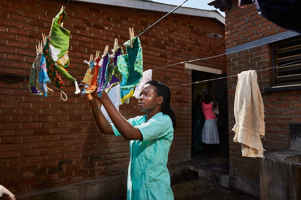 "Tamanda had to get used to the reuseable pads, but now swears by them. ""The first time it was difficult. I was not used"