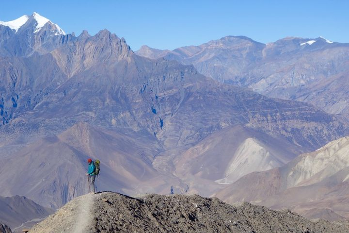 <p>Trekking through Upper Mustang, Nepal.</p>