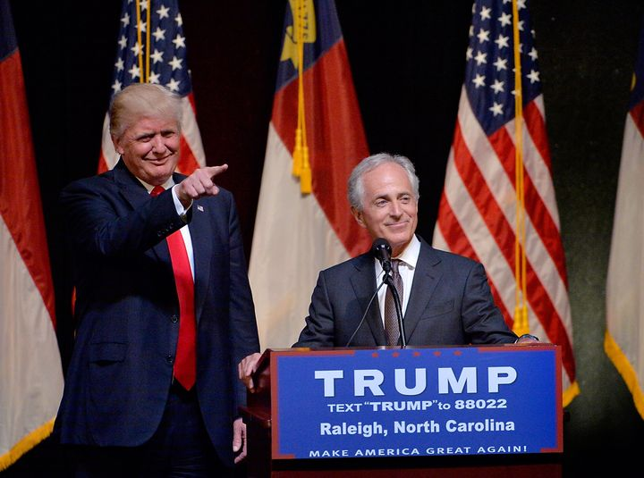 President-elect Donald Trump answers his cellphone even when it doesn't show a caller's info, Sen. Bob Corker (right) told re