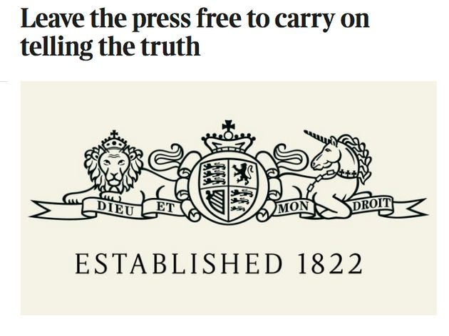 The Sunday Times said enacting Section 40would stop a free press telling the