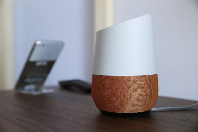 Google Home is a speaker that contains Google's own AI called