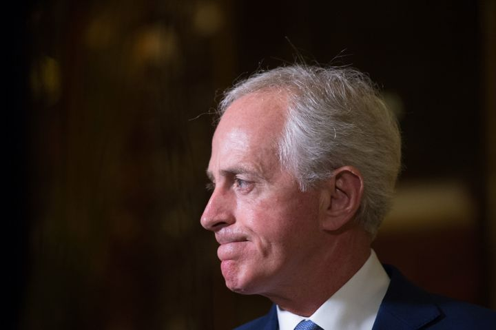 Sen. Bob Corker (R-Tenn.) is wary of repealing the health reform law's revenue while maintaining subsidies.