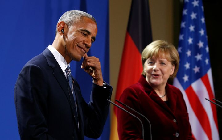 German Chancellor Angela Merkel was President Barack Obama's favorite foreign partner, he indicated to The Atlantic last