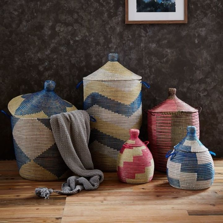 <p>Lidded baskets from West Elm.</p>