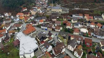 Aerial view shows the town of Wallenfels, southern Germany on November 13, 2015, where the bodies of 'several' infants were discovered the day before. German police said they had found the bodies of 'probably seven' babies in an apartment after being alerted by a woman in the southern state of Bavaria. AFP PHOTO / DPA / STEFAN THOMAS +++ GERMANY OUT +++        (Photo credit should read STEFAN THOMAS/AFP/Getty Images)