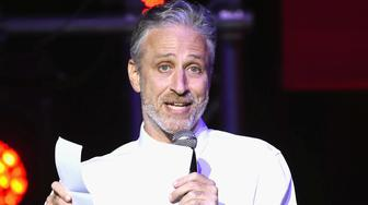NEW YORK, NY - NOVEMBER 01:  Comedian Jon Stewart performs on stage during the 10th Annual Stand Up For Heroes show at The Theater at Madison Square Garden on November 1, 2016 in New York City.  (Photo by Gary Gershoff/WireImage)