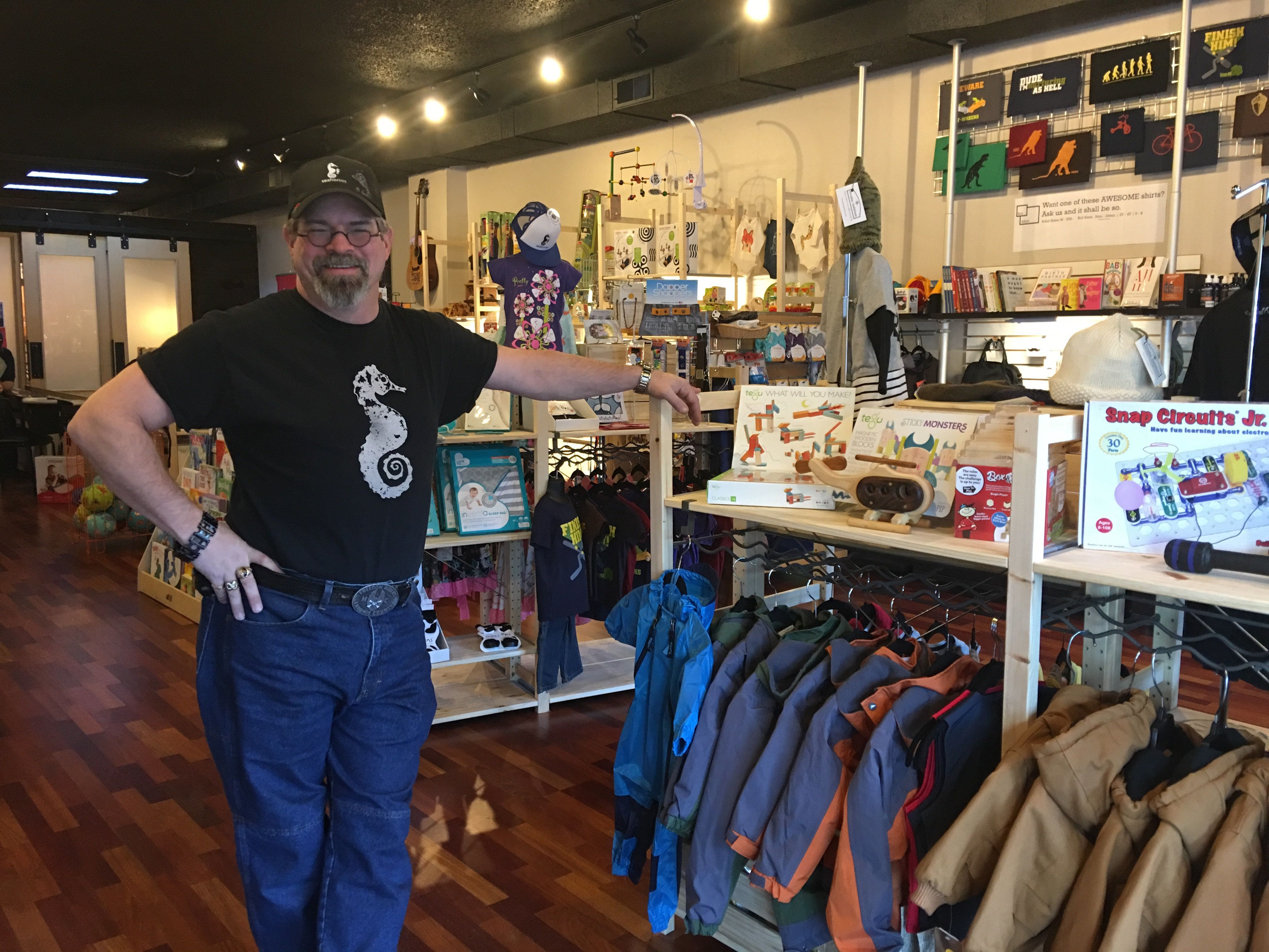Don Hudson opened Seahorses, a father-focused store and parenting space, in June 2015.