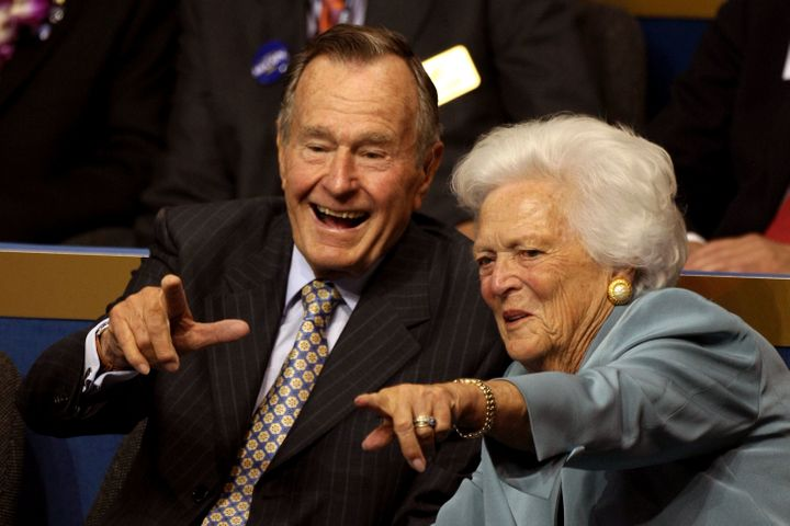 George H.W. Bush and Barbara Bush married in January 1945.