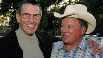 BURBANK, CA - APRIL 25:  Actors Leonard Nimoy (L) and William Shatner (R) attend the 19th Annual 'Hollywood Charity Horse Show' at the Los Angeles Equestrian Center on April 25, 2009 in Burbank, California.  (Photo by Amanda Edwards/Getty Images)