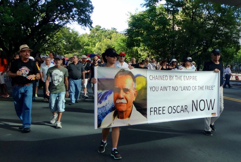 About ten thousand marched in San Juan for the release of Oscar López Rivera in November 2013, which received little to no in