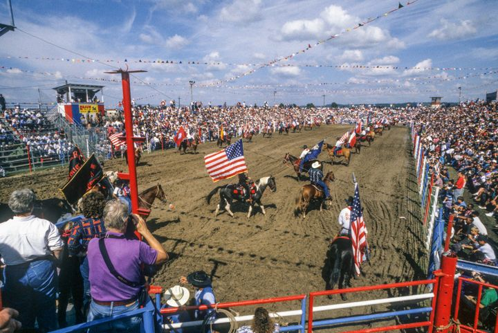 The Angola Prison Rodeo, staged at the Louisiana State Penitentiary, is held on one weekend in April and on every Sunday in O