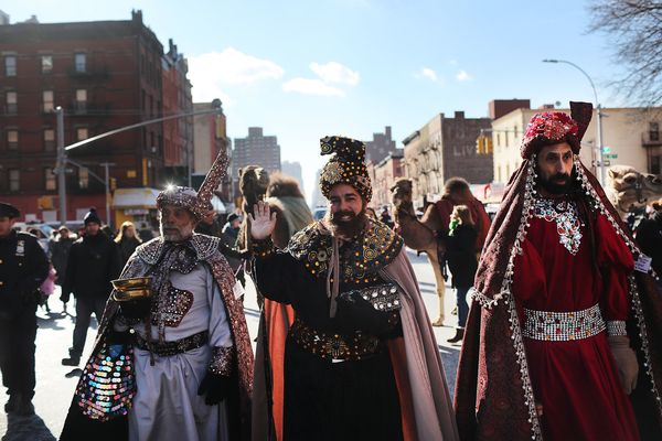 The 40th annual Three Kings Day Parade marches through East Harlem on January 6, 2017 in New York City. The parade, which beg